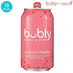 bubly sparkling water grapefruit flavor