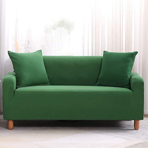 NOBCE Copridivano Elastico Moderno Divano all-Inclusive Soggiorno Divano Elastico copridivano Verde 235-300CM