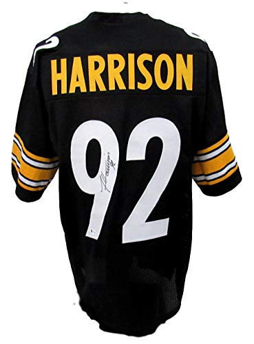 James Harrison Pittsburgh Autographed/Signed Jersey Beckett 135754