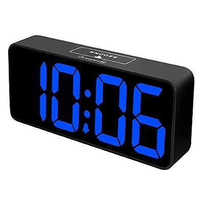 DreamSky 8.9 Inches Large Digital Alarm Clock with USB Charging Port, Fully Adjustable Dimmer, Battery Backup, 12/24Hr, Snooze, Adjustable Alarm Volume, Bedroom Alarm Clocks