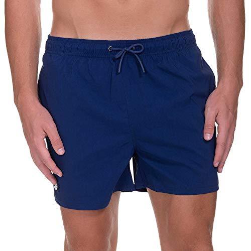 bruno banani Herren Cliff Boxer Shorts, Blau (Marine 010), Medium (Herstellergröße: M)