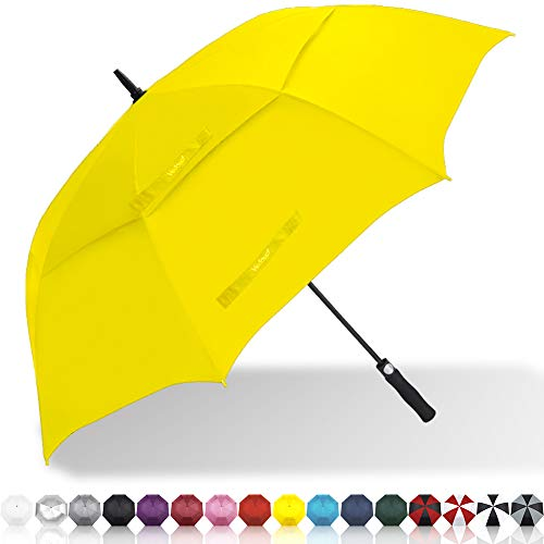 Best Buy! Vedouci Large Oversize Golf Umbrella Double Canopy Vented Windproof Stick Umbrella with Te...