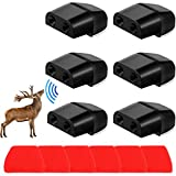 Niteguy 6 Pack Deer Whistles Car Dual Construction,Car Warning Devices Applicable for All Cars, SUV's, Trucks, Motorcycles, ATV's and More Vehicles (Black)…