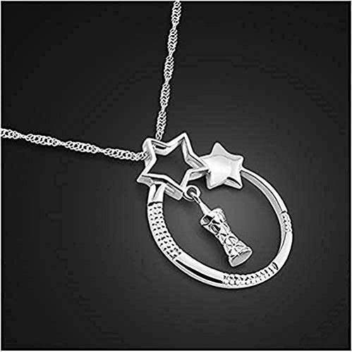 N-G Necklace Women Silver Jewelry Silver Necklace Tower Pendant Necklace Lady Silver Chain Birthday Present Gifts