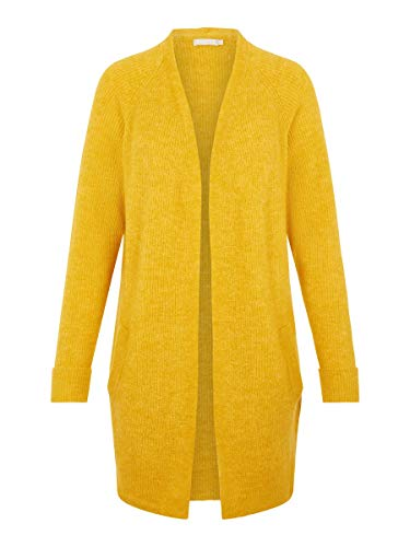 PIECES Damen Strickjacke Longline XLNugget Gold