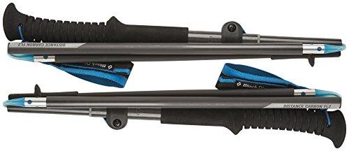 Black Diamond bâtons de trekking ultra légers Distance Carbon FLZ - Bâtons de randonnée pliables et ajustables en carbone / 1 x 2 bâtons 110cm