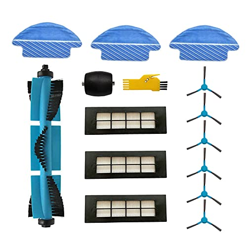 Kit de accesorios MIKONG para Cecotec Conga Excellence 3090 Robot limpiador de aspiración Piezas de repuesto Paquete de 14 Cepillo principal y filtro y cepillo lateral