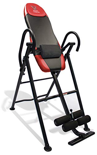 Body Vision IT9550 Deluxe Inversion Table with Adjustable Head Pillow & Lumbar Support Pad, Red -...