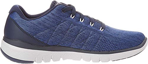Skechers FLEX ADVANTAGE 3.0- STALLY-52957, Herren Low-Top, Blau (Navy Mesh/Trim Nvy), 47.5 EU