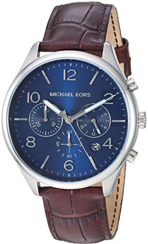 Michael Kors Orologio Cronografo Quarzo Uomo con Cinturino in Pelle MK8636