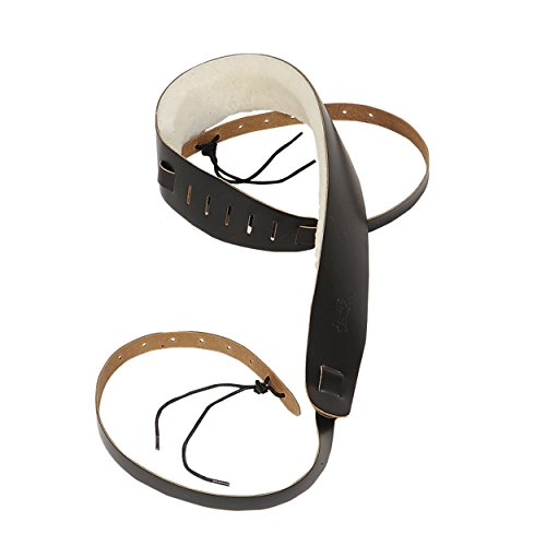 Levy's Leathers PM14-DBR Genuine Leather Banjo Strap with Sheepskin, Dark Brown