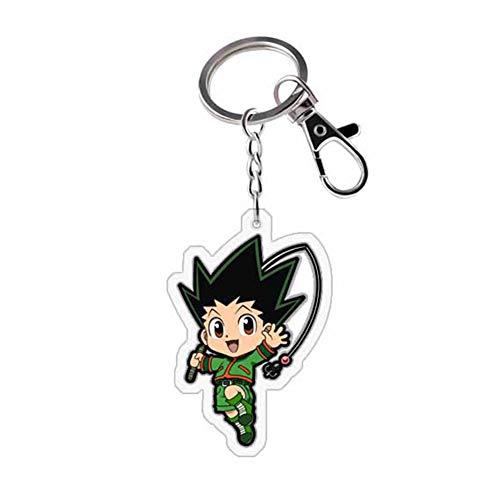 ALTcompluser Anime Hunter x Hunter Karabiner Schlüsselanhänger Doppelseitig Schlüsselbund Schlüsselring Acryl Anhänger, Dekoration für Tasche/ Rucksack / Mäppchen( Gon·Freecss 2)