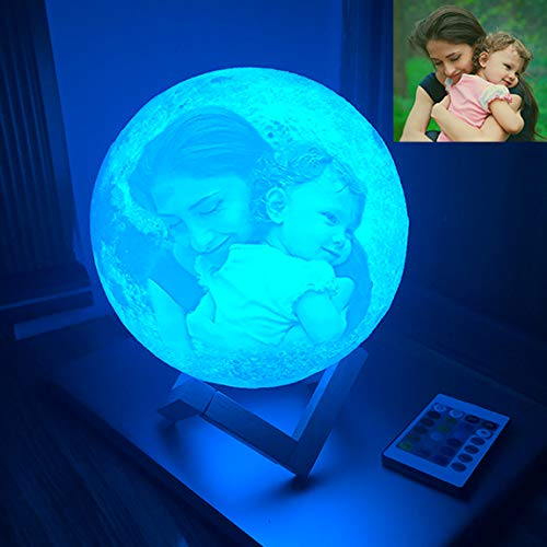 RMFSH Moon Lamp with Picture Engraved Personalized Moon Light with...
