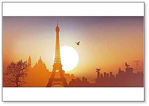 Vue De Paris Avec La Tour Eiffel Et Le Sacré-cœur Sur La Butte De Montmartre Kühlschrankmagnet