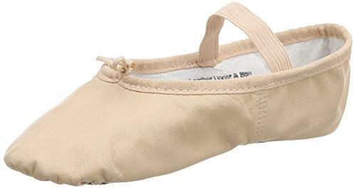 SoDanca Ballettschläppchen aus Leder, ganze Chromledersohle rosa Gr. 31