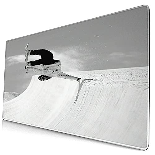 Custom Office Mauspad,Extremsport auf Snow Mountains Snowboarden,Anti-Rutsch-Gummiunterseite Gaming-Mauspad-Matte Schreibtisch-Dekor 15,8