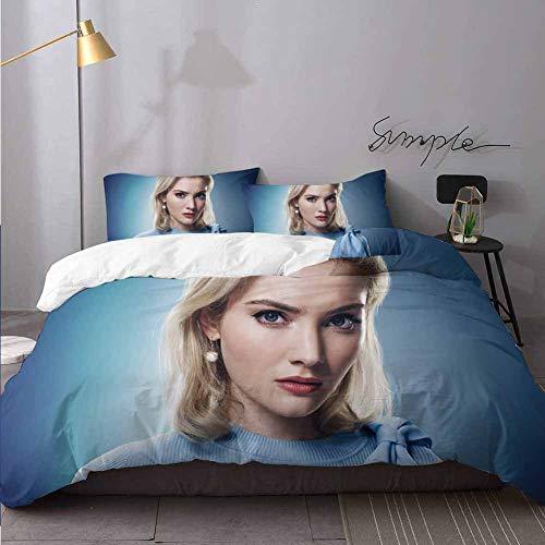 WomHouse Juego de ropa de cama ligero de 3 piezas Skyler Samuels As Esme Frost in The Gifted Season K Q 1 edredn, 2 fundas de almohada de 3 piezas