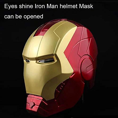 Action Figure Iron Man Helm Avengers 1/1 Spielzeug Modell Augen Leuchten Maske Öffnen Cosplay Requisiten Geeignet Für Halloween Party Maskerade A