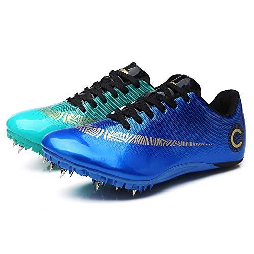 ZRSH Zapatillas de Atletismo Unisex, 8 Clavos de competición de Atletismo al Aire Libre Zapatillas de Clavos Deportivas Profesionales Zapatos con Clavos,006,45EU
