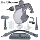 x jet vapor - PurSteam World's Best Steamers Chemical-Free Cleaning PurSteam Handheld Pressurized Steam Cleaner with 9-Piece Accessory Set Purpose and Multi-Surface All Natural, Anthracite