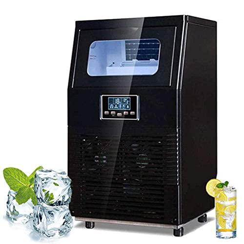 Ice Cube Maker Máquina para hacer hielo comercial, Máquina enfriamiento inteligente, 40 kg hielo por 24 horas, 32 cubos por 15 minutos, Ideal para bar, tienda té, cafetería, tienda bebidas frías