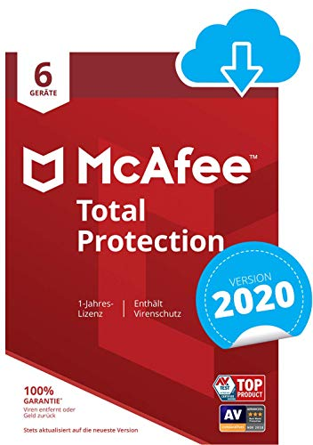 McAfee Total Protection - 6 Devices | 5 Gerät | 1 Benutzer | 12 Monate | PC/Mac | Aktivierungscode per Email