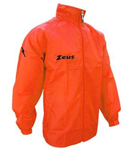 K-way - Wasserdichte Herren-Regenjacke für Running, Training, Fußball, Sport und Freizeit, unisex - erwachsene damen Kind kinder Herren, Neon Orange, Medium