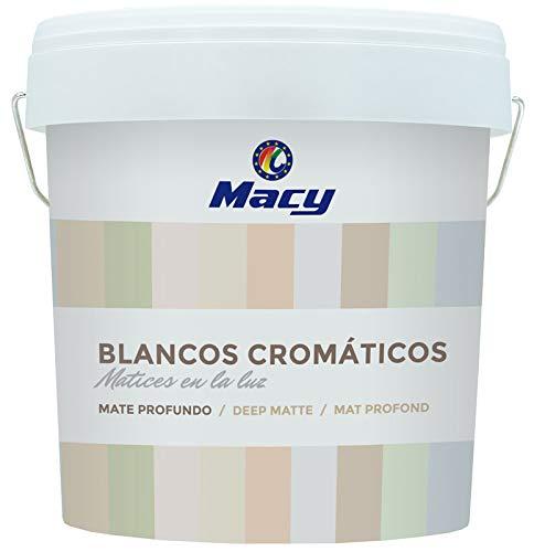 Pintura Plástica Blancos Cromaticos al Agua Mate Profundo con Convervante Antimoho. 4 Litros. Color Verano