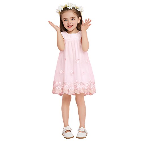 Yixin Little Trade Abito - ragazza Pink 2-3 Anni