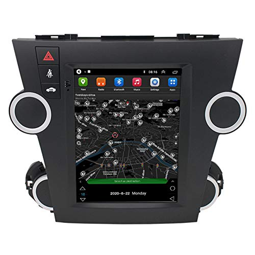 Android Car Radio GPS Navigation para Toyota Highlander (vertical screen) 2 DIN Manos libres bluetooth Car Stereo MP5 Player Controles del volante FM Radio Receptor