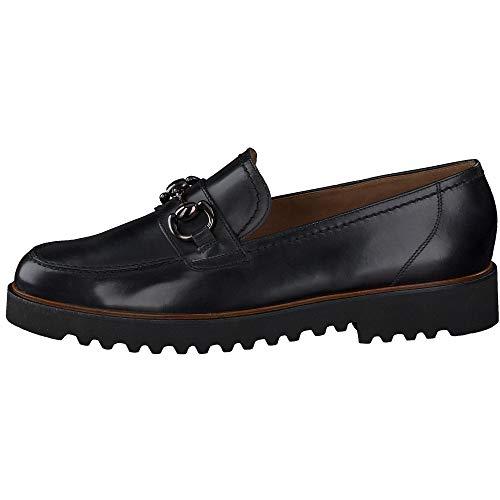 Paul Green Damen Super Soft Slipper, Frauen Mokassins, Slip-on College Schuh Loafer businessschuh weiblich Lady Ladies feminin,Schwarz,5 UK / 38 EU