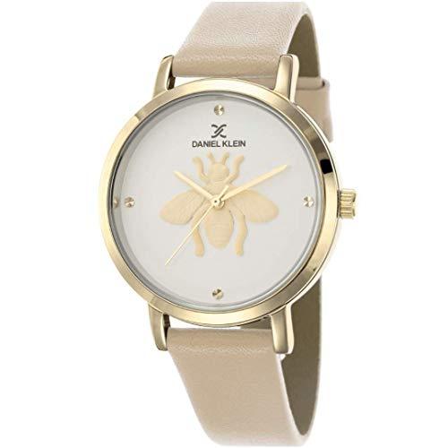 Daniel Klein Reloj de pulsera para mujer (DK12434) – Correa de cuero – 36 mm analógico relojes de moda para mujer – Movimiento de cuarzo japonés – abeja, minimalista – muchos colores