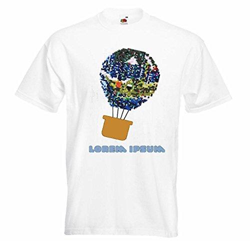 Damen T-Shirt Motiv-300242 Größe XL Farbe Weiss Druck