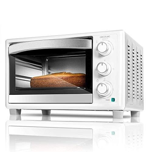 Cecotec Horno Sobremesa Bake&Toast 590. 1500 W, Capacidad de 23 litros, Temperatura hasta 230ºC, Temporizador hasta 60 Minutos, 3 Modos de cocción, Incluye Bandeja Recogemigas