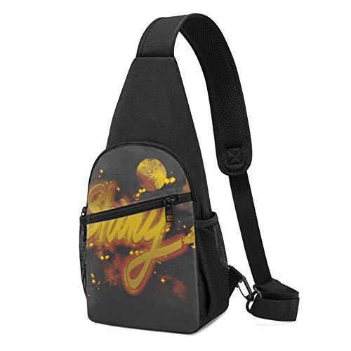 Shiny Planet Universe Spaceship Serenity Firefly - Mochila bandolera negra para viajes, senderismo, ciclismo, camping, para mujeres y hombres