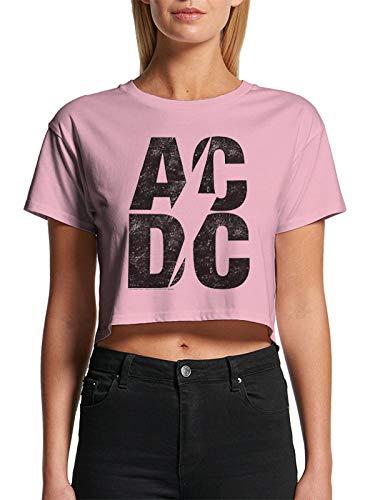 T-Shirt Corta (Donna-S) Stacked Logo (Pink)