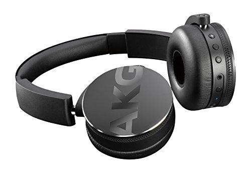 AKG Y50BT On-Ear Wireless Bluetooth Kopfhörer Wiederaufladbar Faltbar Kompatibel mit iOS und Android Smartphones und Tablets - Schwarz