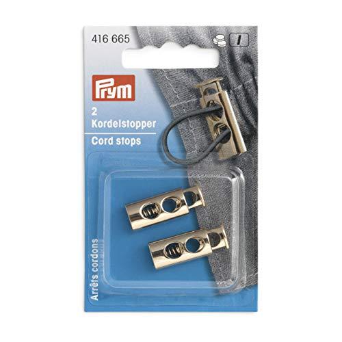 Prym 416665 2-Loch new gold Kordelstopper, Metall, 9,7 x 26 mm