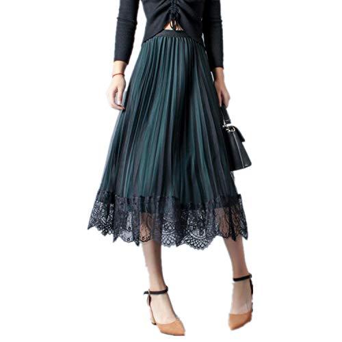 QX-DIMDI Terciopelo falda plisada falda