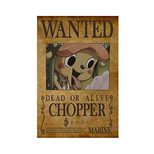 Anime One Piece Wanted Chopper 8 Leinwand-Poster, Schlafzimmer, Dekoration, Sport, Landschaft, Büro, Raumdekoration, Geschenk, ohne Rahmen: 30 x 45 cm