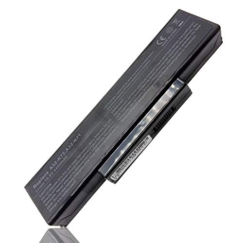 Vervangende laptop batterij A32-K72 voor ASUS K72 K72F K72J K72JR K73 K73S K73SV N71 N73 N73S N73SV X73 X73E X73S 70-NX01B1000Z 70-NXH1B1000Z 70-NZY1B1000Z 70-NZYB1000Z【6 cellen 10.8V 4400mAh 】- 1 jaar garantie