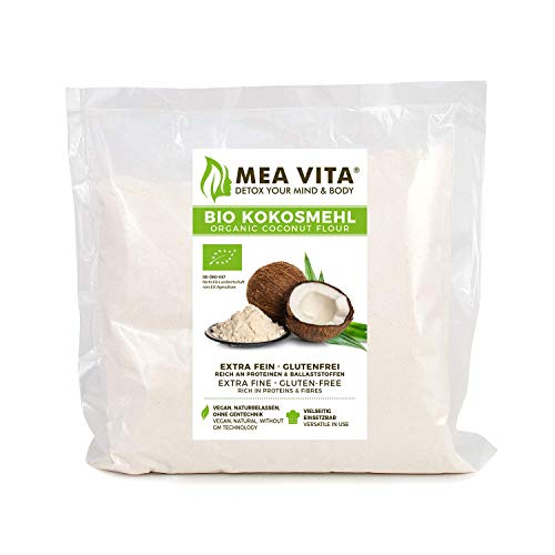 MeaVita Farine de Noix de Coco Biologique 1 kg 60580