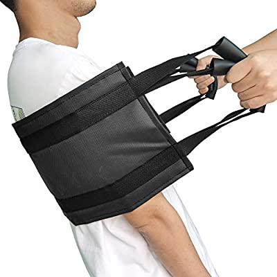 31.5 Inch Padded Bed Transfer Nursing Sling for Patient, Elderly Safety Lifting Aids Home Bed Assist Handle Back Lift Mobility Belt for Patient Care by Healtheven