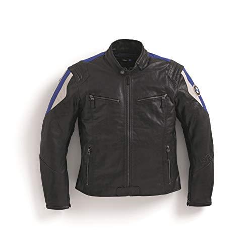 BMW Genuine Motorcycle Motorrad Club Leather Jacket Men Black/Blue (M)