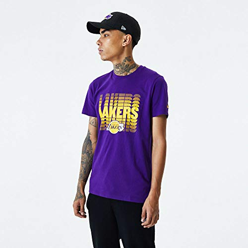 New Era Los Angeles Lakers Modelo NBA Logo Fade tee LOSLAK, Purple, L