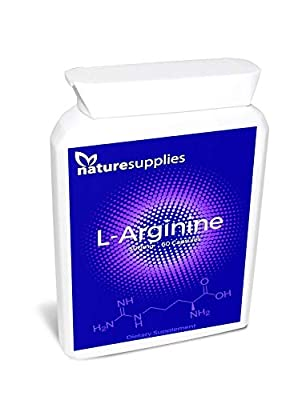 SALE £3.99 L-Arginine Capsules From Naturesupplies 60 x 500mg Per Tub | Rich Amino Acids Muscle Food Bodybuilding | Stimulates Nitric Acid Production | Thousands Of Happy Customers by Naturesupplies