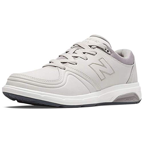 New Balance Womens WW813 Leather Low Top Lace Up Walking Shoes, White, Size 9.5