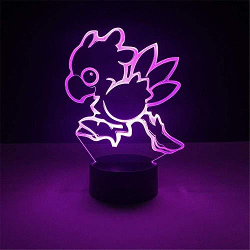 Productos Led Colorido 3D Luz De Noche Pequeño Led Decoraciones De Luz Nocturna Regalo Para Habitación De Bebé Lámpara Para Niños