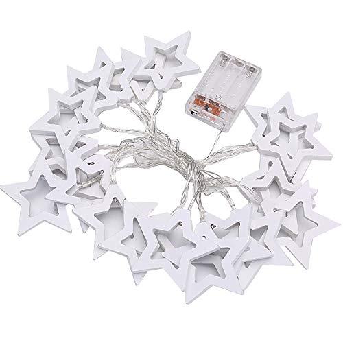 Led Lichterkette Sterne Kaiki 1M/2M/3M Batterienbetriebene Licht für Party, Garten, Weihnachten, Halloween, Hochzeit, Beleuchtung Deko