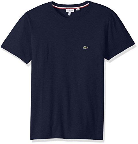 Lacoste Boys' Big Crew Neck Cotton Jersey T-Shirt, Navy Blue, 8Y